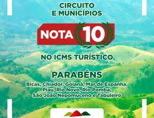 Com pontuação máxima, municípios do Circuito se destacam em habilitação do ICMS Turístico 2020