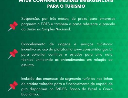 Em reposta à FECITUR e circuitos turísticos, Ministério oficializa medidas emergenciais para o setor